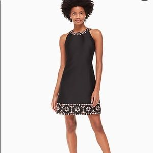 """Kate Spade NWT """"by the pool"""" blk embroidered dress"""
